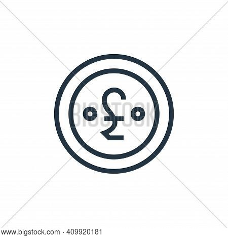 pound icon isolated on white background from finance collection. pound icon thin line outline linear