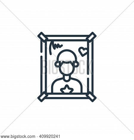 poster icon isolated on white background from fame collection. poster icon thin line outline linear