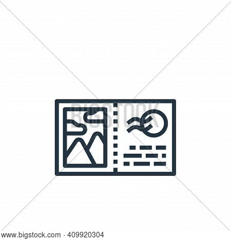 postcard icon isolated on white background from travel collection. postcard icon thin line outline l