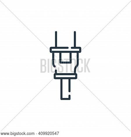 plug icon isolated on white background from electrician tools and elements collection. plug icon thi