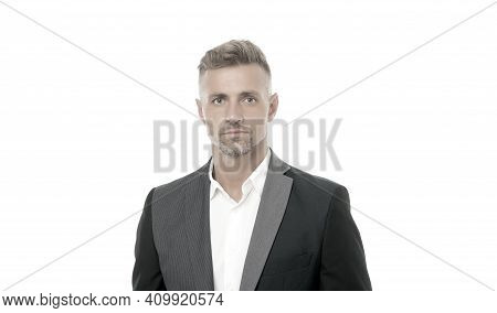 Make Man Look His Best. Handsome Mature Man Isolated On White. Fashion Look Of Businessman. Formal S