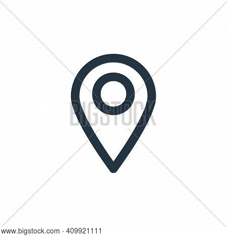pin icon isolated on white background from user interface collection. pin icon thin line outline lin