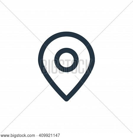 pin icon isolated on white background from marketing business collection. pin icon thin line outline