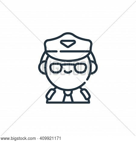 pilot icon isolated on white background from labour day collection. pilot icon thin line outline lin