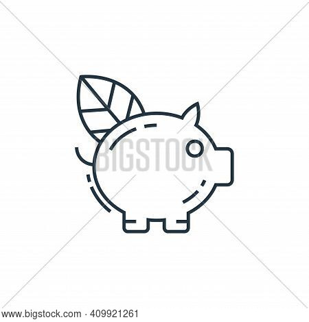 piggy bank icon isolated on white background from environment and eco collection. piggy bank icon th
