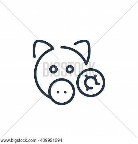 pig icon isolated on white background from virus transmission collection. pig icon thin line outline
