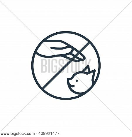 pets icon isolated on white background from stop virus collection. pets icon thin line outline linea