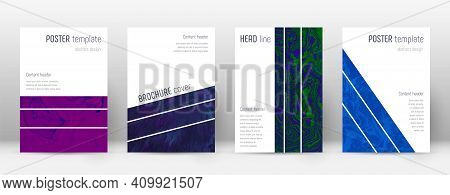 Abstract Cover. Cool Design Template. Suminagashi Marble Geometric Poster. Cool Trendy Abstract Cove