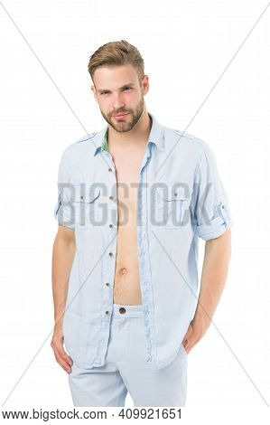 Casual Comfortable Style. Fresh Shirt Concept. Style Inspiration And Advice. Casual Style Outfit. Co