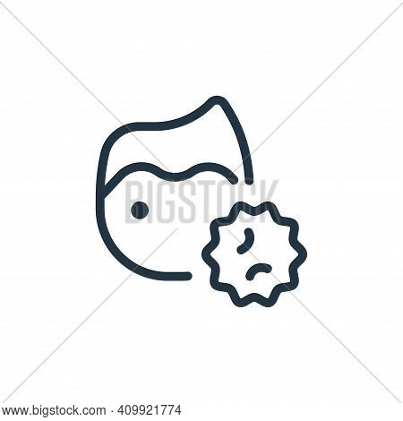 patient icon isolated on white background from coronavirus collection. patient icon thin line outlin