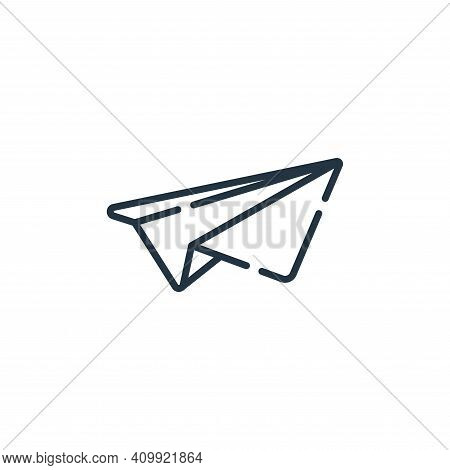 paper plane icon isolated on white background from hope collection. paper plane icon thin line outli