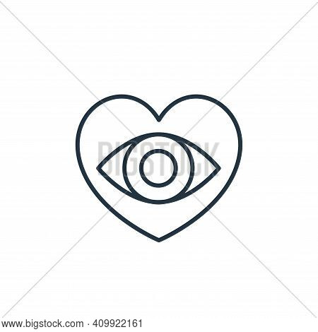 optometry icon isolated on white background from retirement collection. optometry icon thin line out