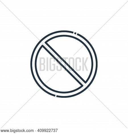 no waiting icon isolated on white background from signaling collection. no waiting icon thin line ou