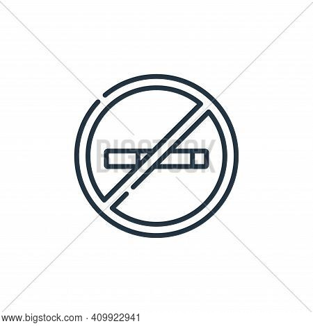 no smoking icon isolated on white background from signals and prohibitions collection. no smoking ic