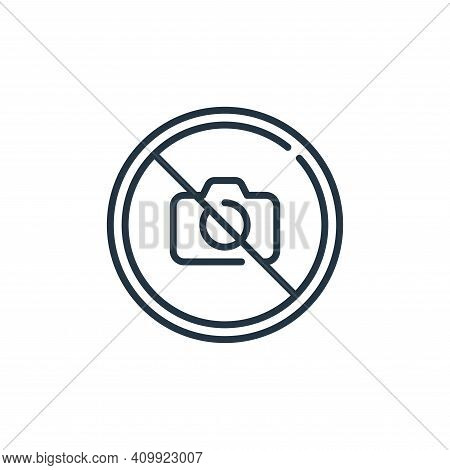 no photo icon isolated on white background from mall collection. no photo icon thin line outline lin