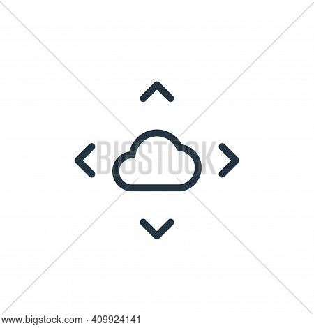 move icon isolated on white background from work office server collection. move icon thin line outli