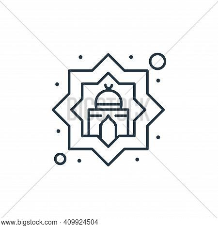 mosque icon isolated on white background from islam and ramadan collection. mosque icon thin line ou