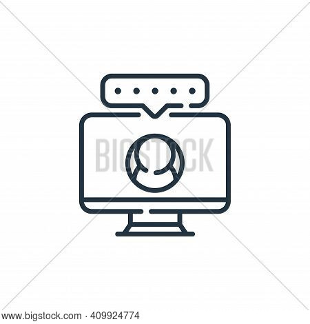 monitor icon isolated on white background from social media collection. monitor icon thin line outli