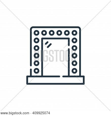 mirror icon isolated on white background from fame collection. mirror icon thin line outline linear