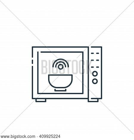 microwave icon isolated on white background from internet of things collection. microwave icon thin