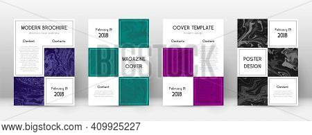 Abstract Cover. Nice Design Template. Suminagashi Marble Business Poster. Nice Trendy Abstract Cover