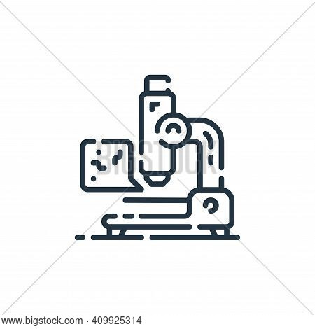 microscope icon isolated on white background from startup collection. microscope icon thin line outl