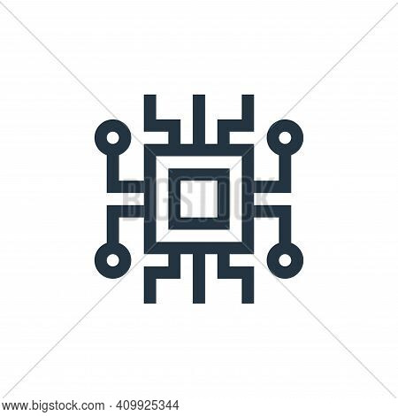 microprocessor icon isolated on white background from manufacturing collection. microprocessor icon