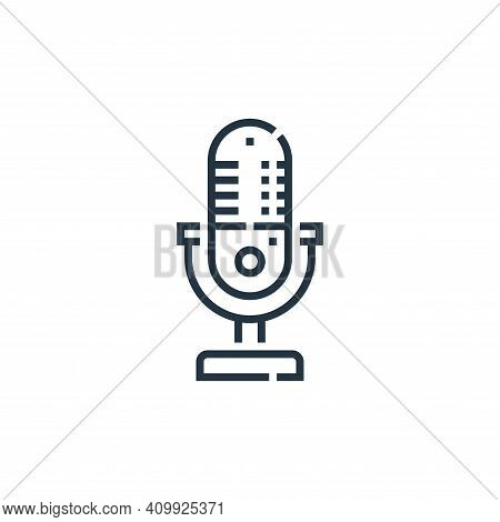 microphone icon isolated on white background from videoblogger collection. microphone icon thin line