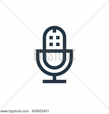 microphone icon isolated on white background from web essentials collection. microphone icon thin li