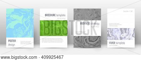 Abstract Cover. Elegant Design Template. Suminagashi Marble Minimalistic Poster. Elegant Trendy Abst