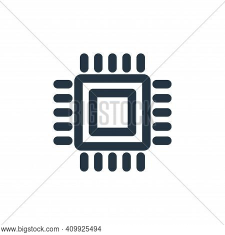 microchips icon isolated on white background from marketing business collection. microchips icon thi