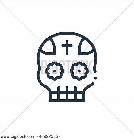 mexican icon isolated on white background from mexico collection. mexican icon thin line outline lin
