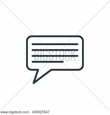 message icon isolated on white background from communication collection. message icon thin line outl