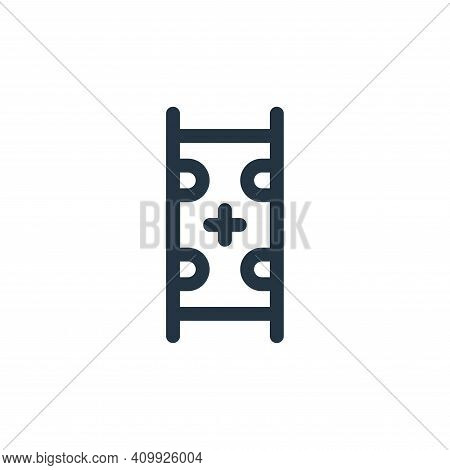 medical stretcher icon isolated on white background from emergencies collection. medical stretcher i