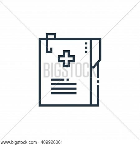 medical records icon isolated on white background from medical services collection. medical records