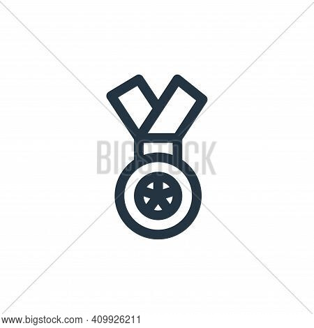 medal icon isolated on white background from auto racing collection. medal icon thin line outline li