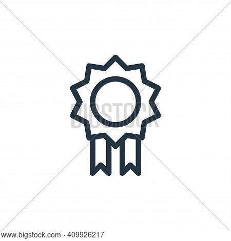 medal icon isolated on white background from online learning collection. medal icon thin line outlin