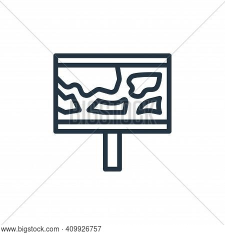 map icon isolated on white background from school collection. map icon thin line outline linear map