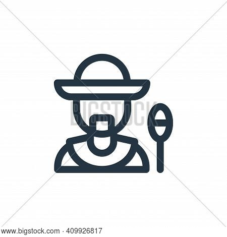 man icon isolated on white background from mexico collection. man icon thin line outline linear man