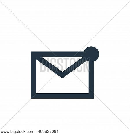 mail icon isolated on white background from user interface collection. mail icon thin line outline l