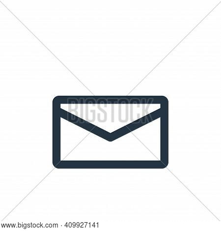 mail icon isolated on white background from multimedia collection. mail icon thin line outline linea