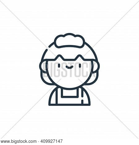 maid icon isolated on white background from labour day collection. maid icon thin line outline linea