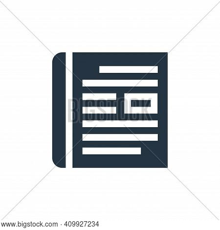 magazine icon isolated on white background from advertisement collection. magazine icon thin line ou