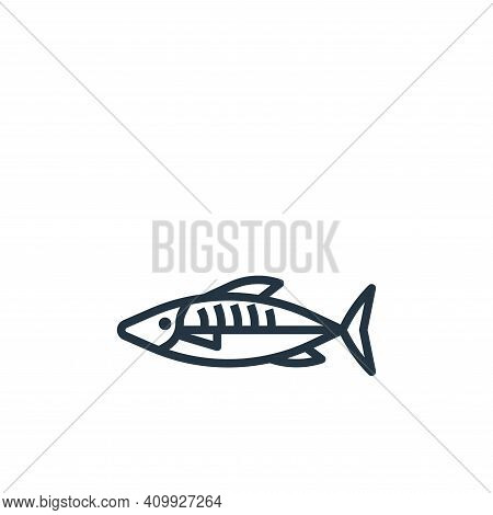 mackerel icon isolated on white background from seafood collection. mackerel icon thin line outline