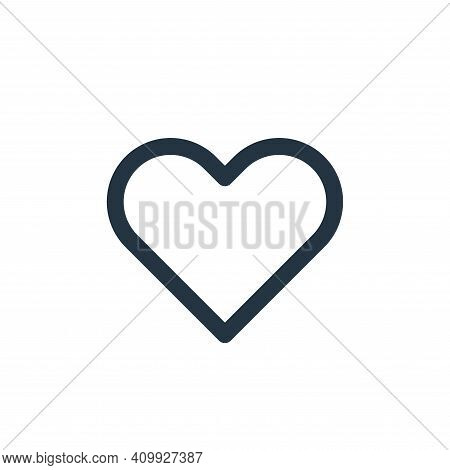 love icon isolated on white background from user interface collection. love icon thin line outline l