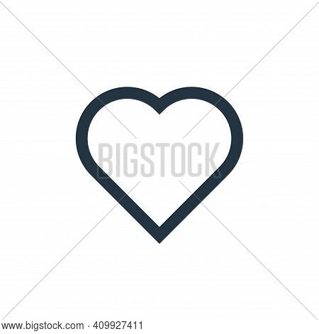 love icon isolated on white background from email collection. love icon thin line outline linear lov