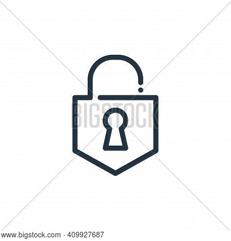 lock icon isolated on white background from ricon collection. lock icon thin line outline linear loc