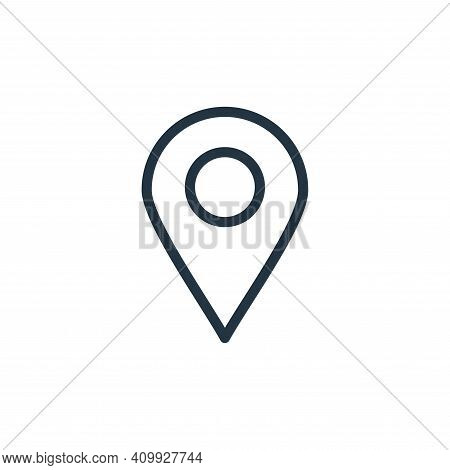 location pin icon isolated on white background from navigation collection. location pin icon thin li