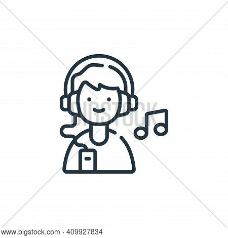 listen icon isolated on white background from free time collection. listen icon thin line outline li