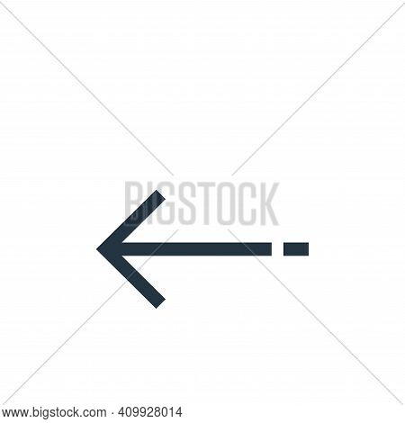 left arrow icon isolated on white background from arrows collection. left arrow icon thin line outli